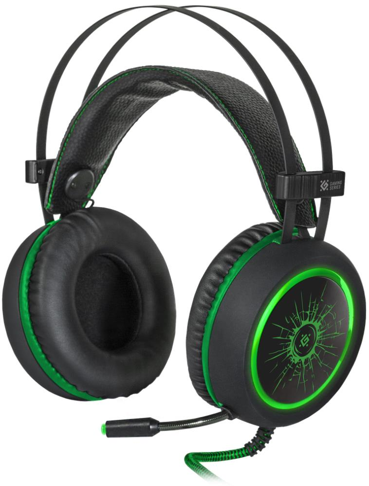 Гарнитура Defender GAMING DeadFire G-530D BLACK/GREEN 64531