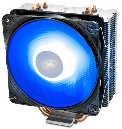 Устройство охлаждения(кулер) Deepcool GAMMAXX 400 V2 BLUE LED Soc-AM4/AM3+/1150/1151/1200 4-pin 28dB Al+Cu 180W PWM 12cm